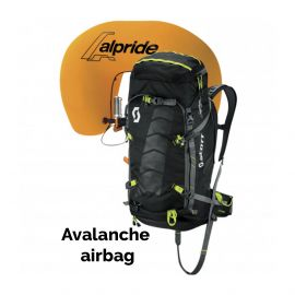 Scott, Air Free Alpride 30 Kit Pack lawine airbag rugzak, Zwart