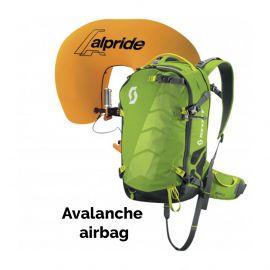 Scott, Air Free Alpride 22 Kit Pack lawine airbag rugzak, Groen-Grijs