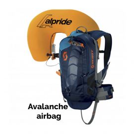 Scott, Air Free Alpride 12 Kit Pack lawine airbag rugzak , blauw