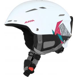 Alpina, Biom ski helmet helm Roze/Wit