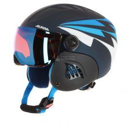 Alpina, Carat Le Visor HM, kinder skihelm, nachtblauw-denim mat