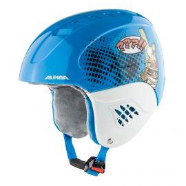Alpina, Carat set Disney (helm en goggle), skihelm, kinderen, Donald Duck blauw