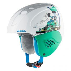 Alpina, Carat set Disney (helm en goggle), skihelm, kinderen, Mickey Mouse  wit
