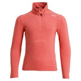 CMP, Half zip shirt melange, skipully, kinderen, Bitter melange oranje