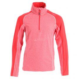 CMP, Half zip shirt melange, skipully, kinderen, ferrari melange rood