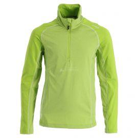 CMP, Half zip shirt melange, skipully, kinderen, lime melange groen