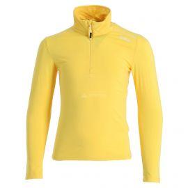 CMP, Half zip shirt melange, skipully, kinderen, melange geel