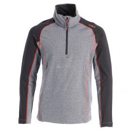 CMP, Half zip shirt melange, skipully, kinderen, melange zwart/oranje