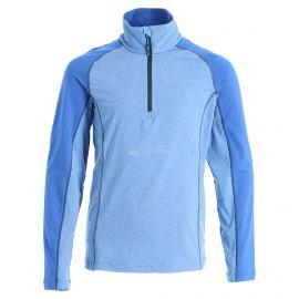 CMP, Half zip shirt melange, skipully, kinderen, royal melange blauw