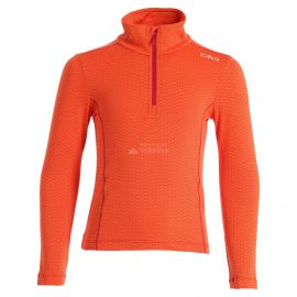 CMP, Half zip shirt pattern, skipully, kinderen, Bitter Granita oranje