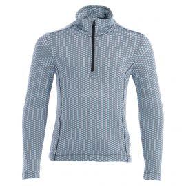 CMP, Half zip shirt pattern, skipully, kinderen, turchese blauw