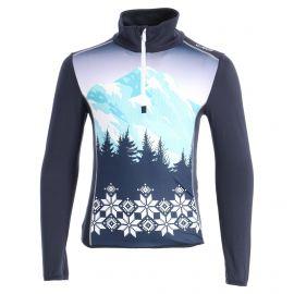 CMP, Half zip shirt print, skipully, kinderen, blauw