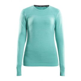 Craft, Fuseknit comfort RN LS, thermoshirt, dames, paradise melange blauw