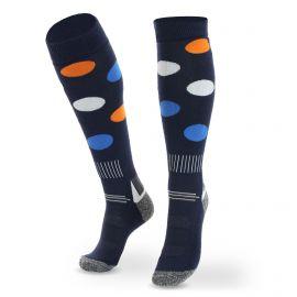 Deluni, Joyride Dots, skisokken, blauw