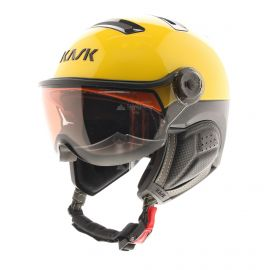 Kask, Montecarlo photochromic, skihelm met vizier, OTG, geel/rood/zwart