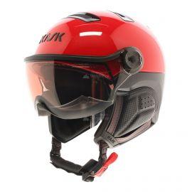 Kask, Montecarlo photochromic, skihelm met vizier, OTG, rood