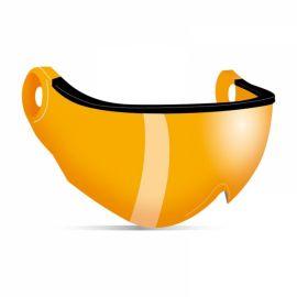 Kask, Piuma R Double Lens Visors vizier oranje