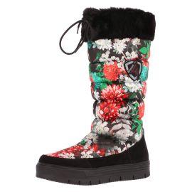 Skyline, Sporting line, snowboots print, dames, flowers