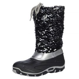 Skyline Canadian line, snowboots paillettes, dames, zwart