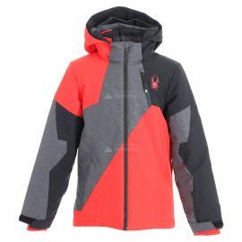 Spyder, Ambush, ski-jas, kinderen, grijs/rood