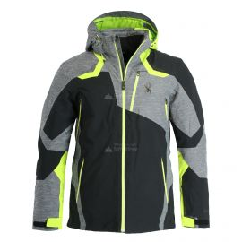 Spyder, Leader GTX ski-jas heren ebony groen/zwart