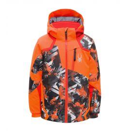 Spyder, Leader, ski-jas, kinderen, parallelagram print oranje