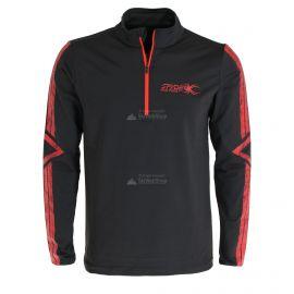 Spyder, Paramount zip T-neck, skipully, heren, volcano rood/zwart