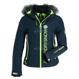 Superdry, SD Ski Run ski-jas dames vortex navy Blauw