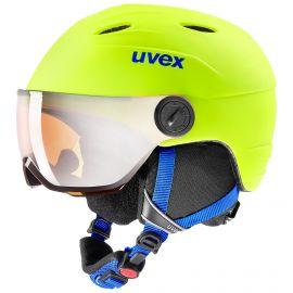 Uvex, Junior visor pro, skihelm met vizier, kinderen, neon geel