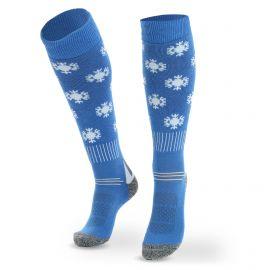Deluni, Joyride Snowflakes, skisokken, kinderen, blauw