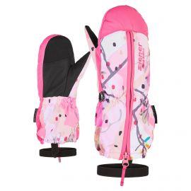 Ziener, Langelo AS Minis, skiwanten, kinderen, spring flower print roze