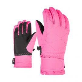 Ziener, Lanta AS PR, skihandschoenen, kinderen, dahlia roze