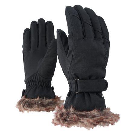 Ziener, Kim Lady skihandschoenen, dames, zwart