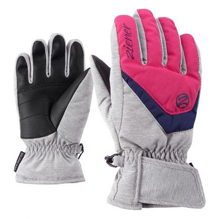 Ziener, Lorik handschoenen kinderen light melange/ pop Roze