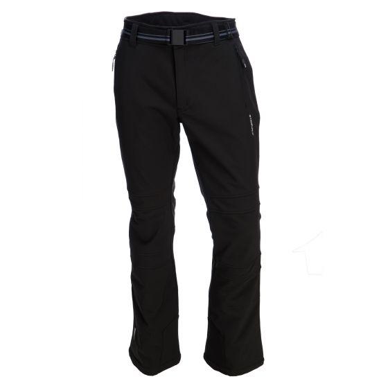 Icepeak, Otso, softshell slim fit, skibroek, heren, zwart (Ski kleding heren)